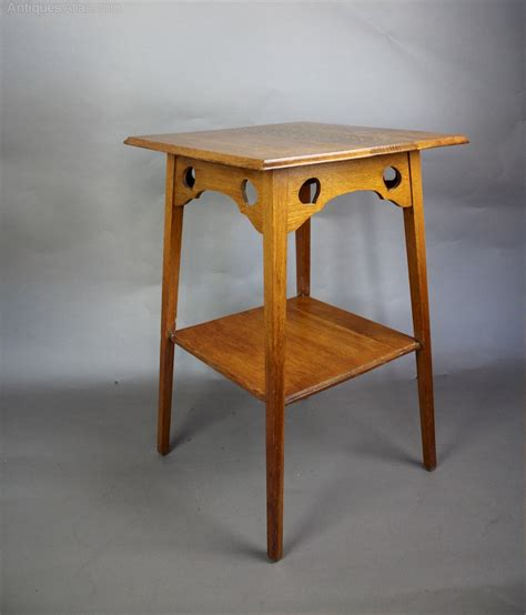 and crafts table arts and crafts golden oak cut out table antiques