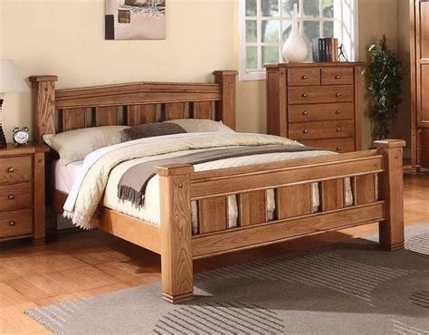king size oak bed frame michidean 5 king size solid oak bed frame ebay