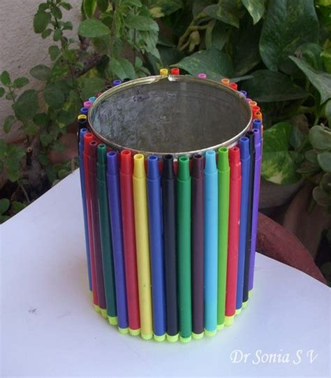 recycling crafts for recycling product of sketch pens recycled things