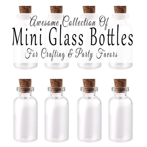 where to buy a where to buy mini glass bottles for crafting and