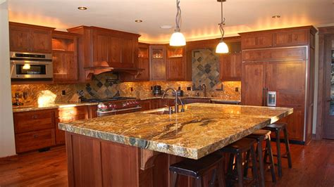 cherry kitchen cabinets with granite countertops upscale kitchens cherry wood cabinets with granite