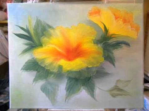 bob ross painting flowers step by step bob ross painting yellow hibiscus