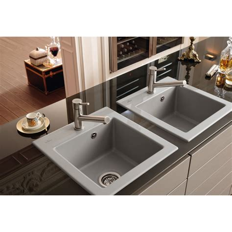 inset kitchen sinks villeroy boch subway xs 475mm x 510mm single bowl