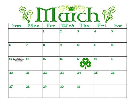 for march march calendar
