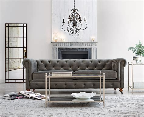 grey velvet tufted sofa our favorite gordon tufted sofa now comes in grey velvet