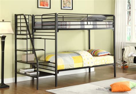 donco metal bunk beds with stairs kfs stores
