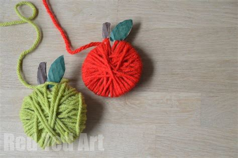 wool crafts for yarn apple craft garland ted s