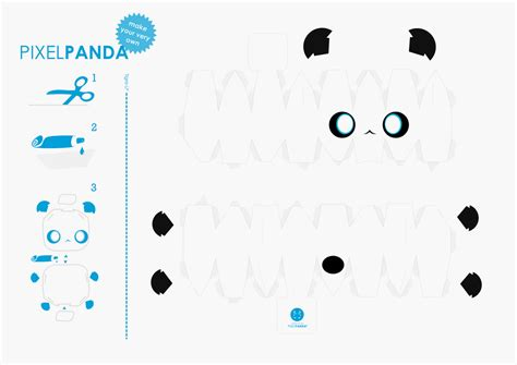 3d paper crafts templates 7 best images of panda printable crafts printable
