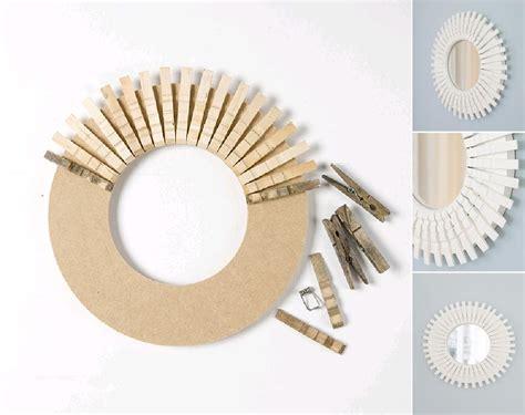 mirror craft projects diy clothespin peggy mirror diy projects usefuldiy