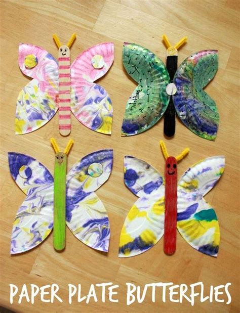 paper plate crafts for summer a paper plate butterfly craft an easy and creative idea