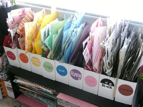 organizing craft paper organzing scrap paper coffee a clever idea clutter