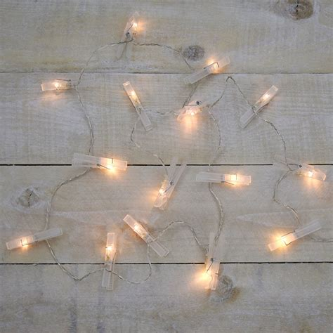 battery operated string light clothespin battery operated string light set