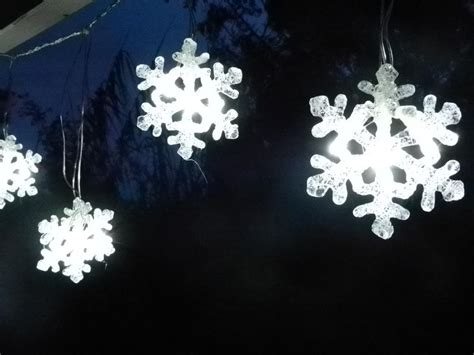 outdoor snowflake string lights snowflake led curtain string light decoration ebay