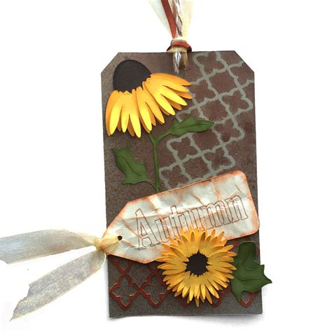 sunflower rubber st invue project pattern autumn tags pazzles craft room