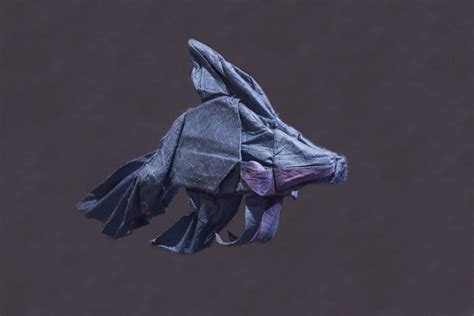 origami betta fish origami lokta tissue betta fish by kamiwasa on deviantart