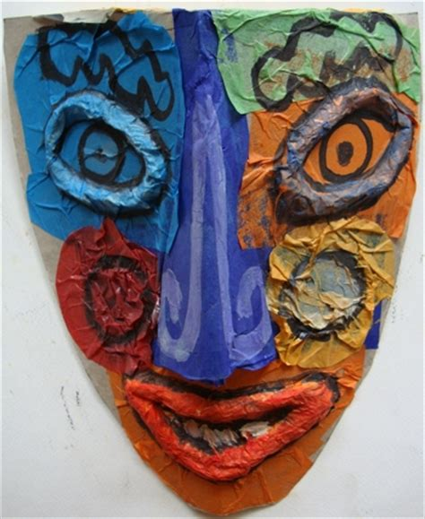 picasso paintings mask make a picasso mask activity education