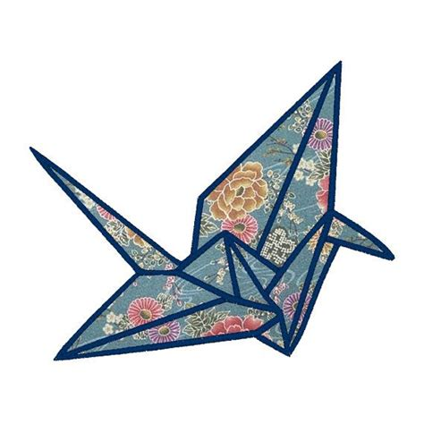 crane bird origami origami crane applique embroidery design pattern for