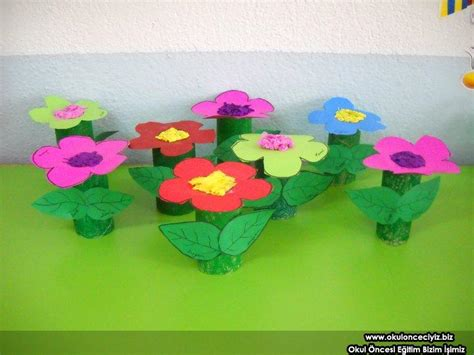 toilet paper roll flowers craft crafts actvities and worksheets for preschool toddler and