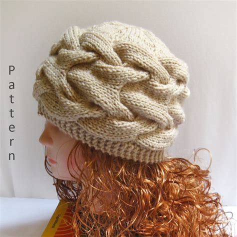 knitting pattern hat needles knit hat pattern knit cable hat pdf pattern n40 gifts shop