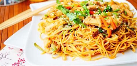 recette nouilles chinoises au poulet aux l 233 gumes