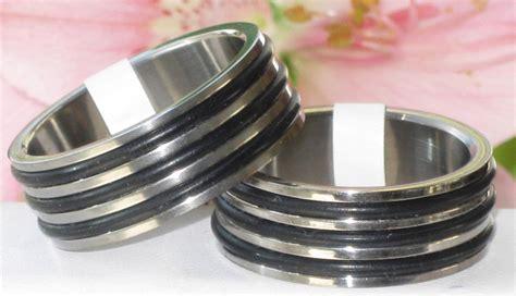 rubber wedding sts r3012 mens womens titanium black rubber wedding ring band