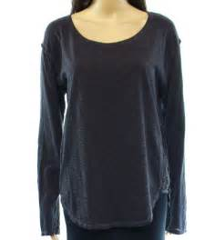 designer knit tops designer black charcoal lace trim s size medium m