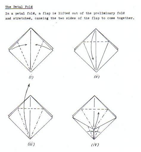 petal fold origami origamai folds