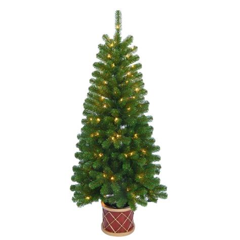 4 5 pre lit tree 4 5 ft pre lit artificial porch tree with clear