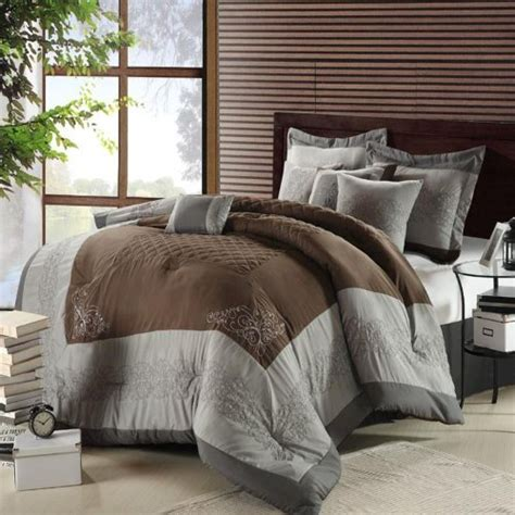 gray and brown comforter sets florence brown gray and silver sized 8