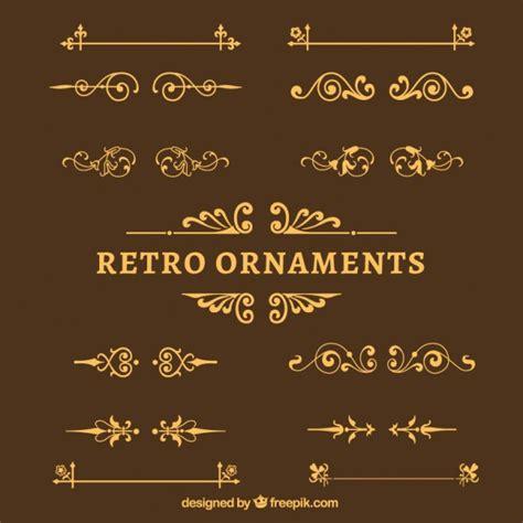 retro ornaments retro ornaments pack vector free