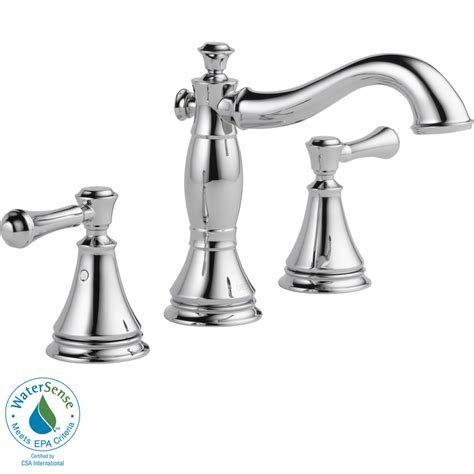 Shower Heads Lowes by Shop Delta Cassidy Chrome 2 Handle Widespread Bathroom