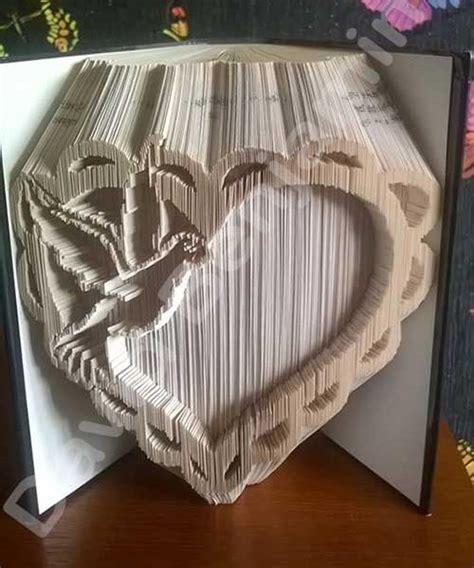 cut and fold paper crafts with dove cut fold book folding pattern cut