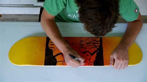 spray painting skateboard deck skateboard deck spray paint sharpie tigers