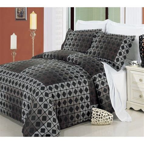 mens bedding set s duvet cover taupe geometric brown black duvet