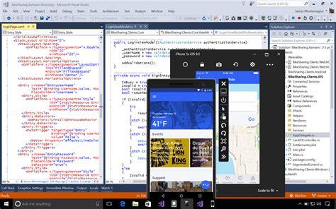 programs like studio xamarin for visual studio build mobile apps in c