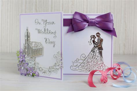 make wedding cards how to make a die cut wedding card hobbycraft