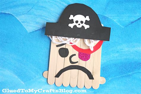 pirate crafts for popsicle stick pirate kid craft glued to my crafts