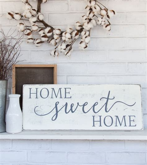 wooden signs home decor home sweet home rustic wood sign rustic wall decor