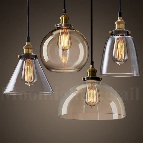 industrial kitchen pendant lights new modern vintage industrial retro loft glass ceiling