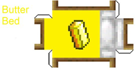 butter paper craft papercraft butter bed fixed minecraft