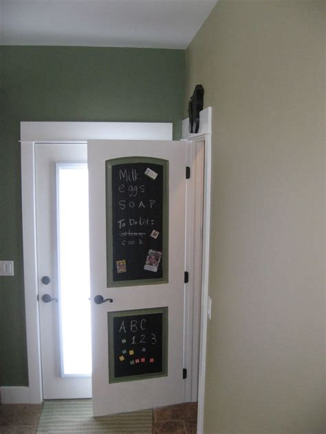 chalkboard paint pantry door a diversity of door styles to hide your pantry with