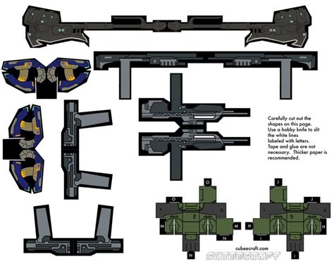 paper craft gun cubecraft simple y barato halo papercraft and toys