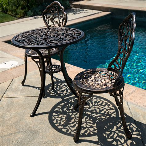 antique patio chairs 3pc bistro set patio table chairs ivory furniture balcony