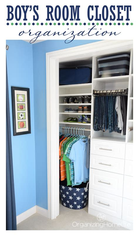 tween boy bedroom ideas tween boy s room organized closet reveal organizing homelife