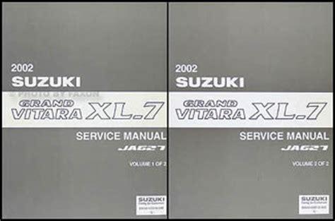 service manual 2003 suzuki xl 7 service manual free 2001 2002 2003 2004 2005 2006 suzuki 2002 suzuki grand vitara xl 7 repair shop manual set original