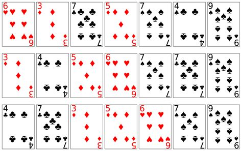 how to make a card deck 4 best images of deck of cards printable