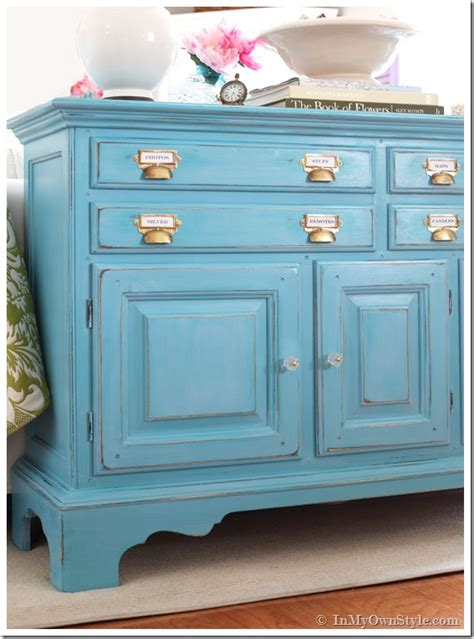 chalk paint distress before or after wax before and after furniture makeover in turquoise in my