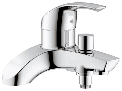 grohe bath shower mixer taps grohe eurosmart deck mounted bath shower mixer tap 25105000
