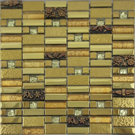 gold glass tile backsplash glass mosaic tile gold backsplashes bathroom wall