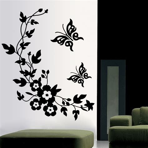 3d butterfly stickers for walls 3d butterfly flowers wall sticker for room bedroom